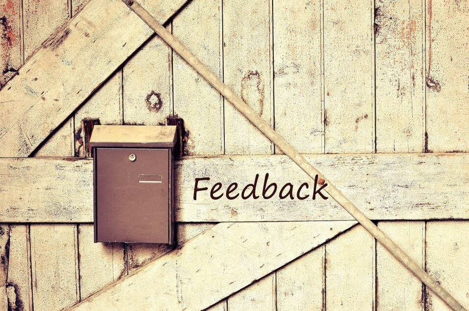 When was the last time you asked for feedback?